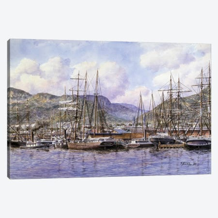 Honolulu Harbor Canvas Print #9546} by Stanton Manolakas Art Print