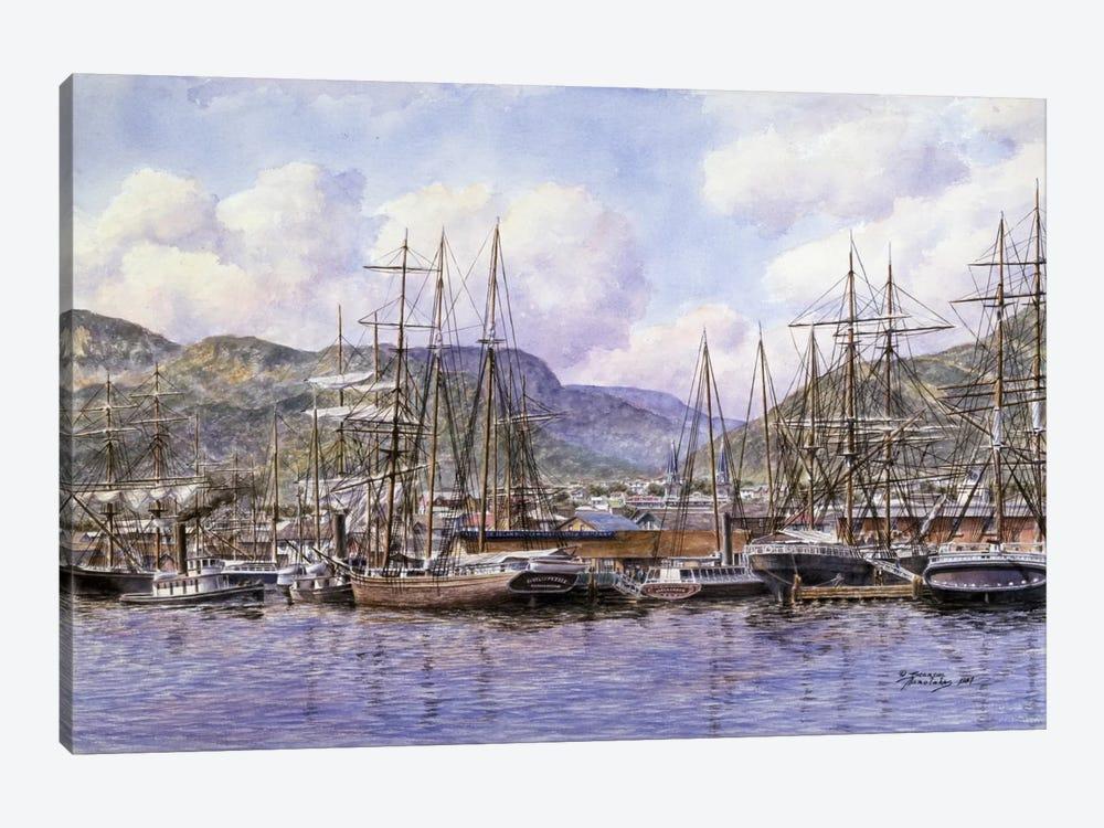 Honolulu Harbor by Stanton Manolakas 1-piece Canvas Art Print