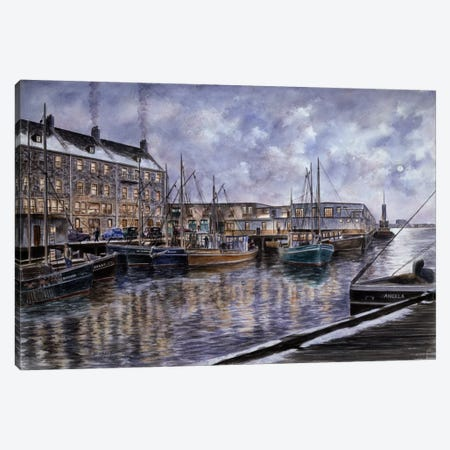 Boston: The Commercial Wharf Canvas Print #9547} by Stanton Manolakas Canvas Print