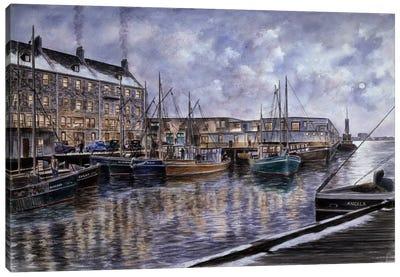 Boston: The Commercial Wharf Canvas Art Print