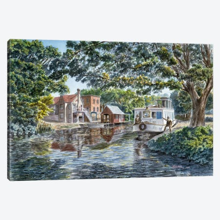 The Excursion Boat Canvas Print #9548} by Stanton Manolakas Canvas Wall Art