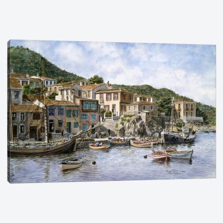 Fisherman's Corner, Kokkari, Samos Island, Greece Canvas Print #9549} by Stanton Manolakas Canvas Art