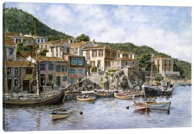 Fisherman's Corner, Kokkari, Samos Island, Greece Canvas Art Print