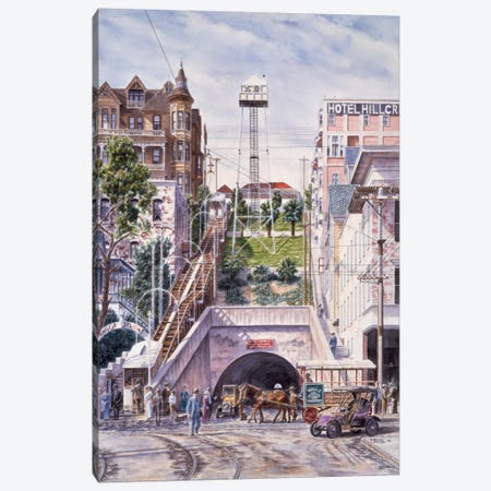 Angels Flight, California Canvas Print #9550} by Stanton Manolakas Canvas Art Print