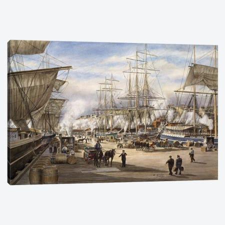 The Green St. Wharf Canvas Print #9551} by Stanton Manolakas Canvas Print