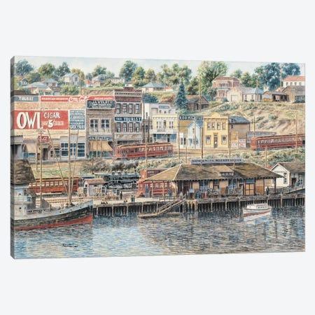 San Pedro Harbor Canvas Print #9552} by Stanton Manolakas Canvas Print