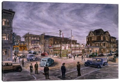 A Night on Bunker Hill Canvas Art Print