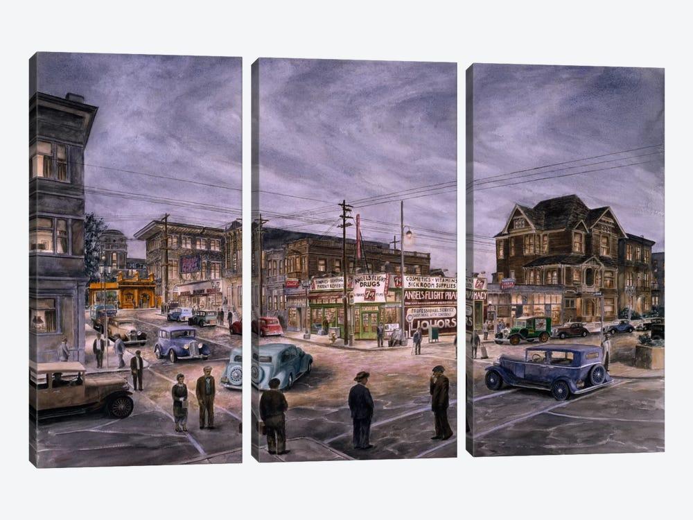 A Night on Bunker Hill by Stanton Manolakas 3-piece Canvas Art Print