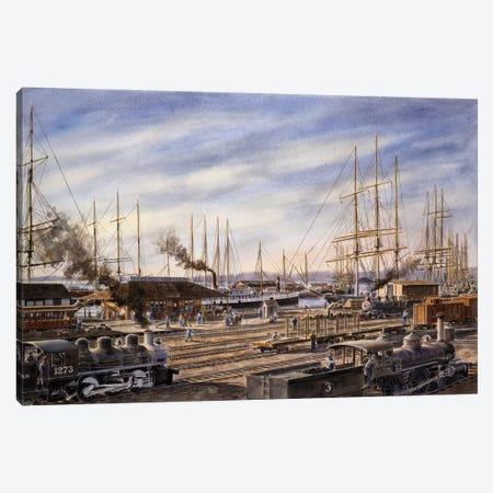 San Pedro Sunrise Canvas Print #9555} by Stanton Manolakas Canvas Artwork