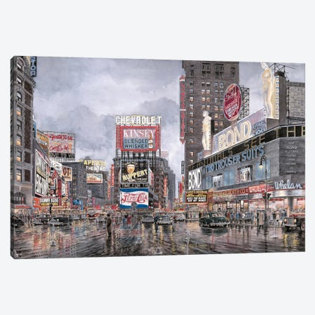 Times Square: New York Canvas Print #9561} by Stanton Manolakas Canvas Artwork