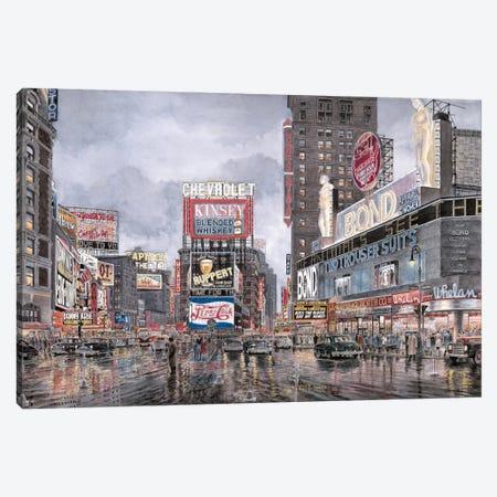 Times Square: New York Canvas Print #9561} by Stanton Manolakas Canvas Artwork