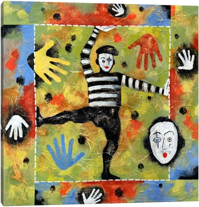 Mime Canvas Art Print