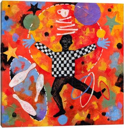 Juggler Canvas Art Print