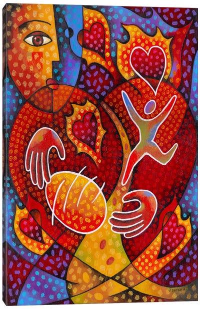 Hearts on Fire Canvas Art Print