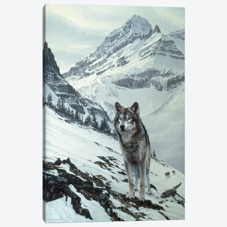 Winter Crossing - Wolf Canvas Print #9591} by Ron Parker Canvas Art Print