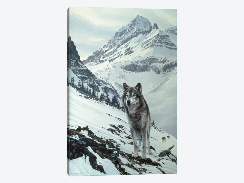 Winter Crossing - Wolf by Ron Parker 1-piece Art Print