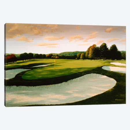 Golf Course 8 Canvas Print #9609} by William Vanderdasson Art Print