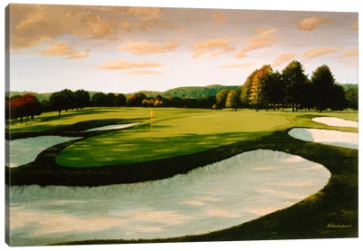 Golf Course 8 by William Vanderdasson Art Print