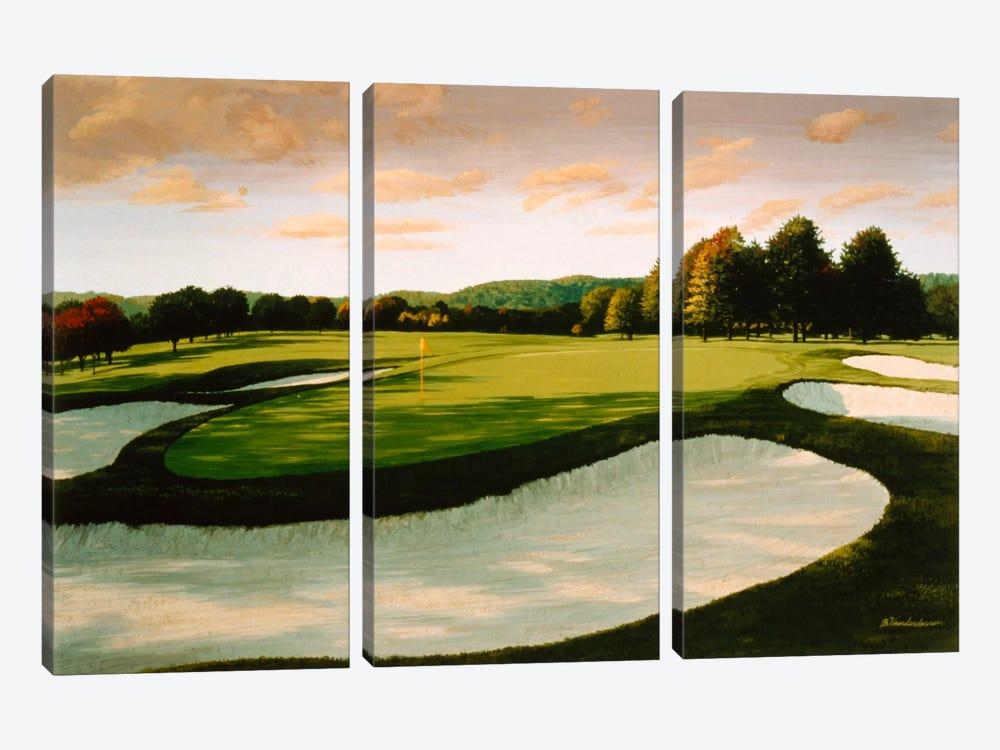 Golf Course 8 by William Vanderdasson 3-piece Canvas Art