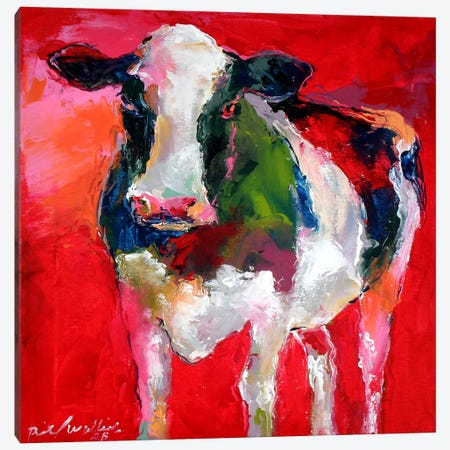 Cow Canvas Print #9623} by Richard Wallich Art Print