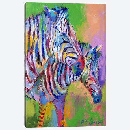 Zebra Canvas Print #9625} by Richard Wallich Canvas Artwork