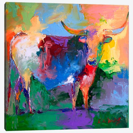 Bull Canvas Print #9626} by Richard Wallich Canvas Artwork