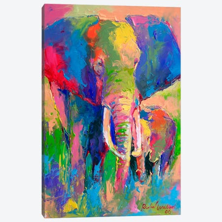 Elephant Canvas Print #9628} by Richard Wallich Art Print