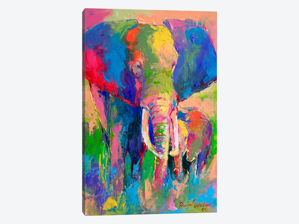 Elephant by Richard Wallich 1-piece Canvas Art Print