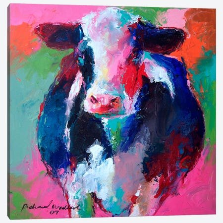Cow II Canvas Print #9629} by Richard Wallich Canvas Print