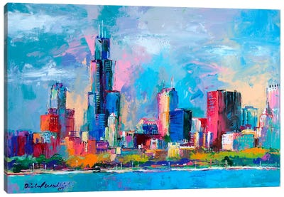 Chicago V Canvas Art Print