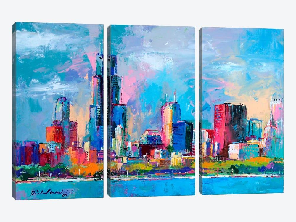 Chicago V by Richard Wallich 3-piece Canvas Artwork