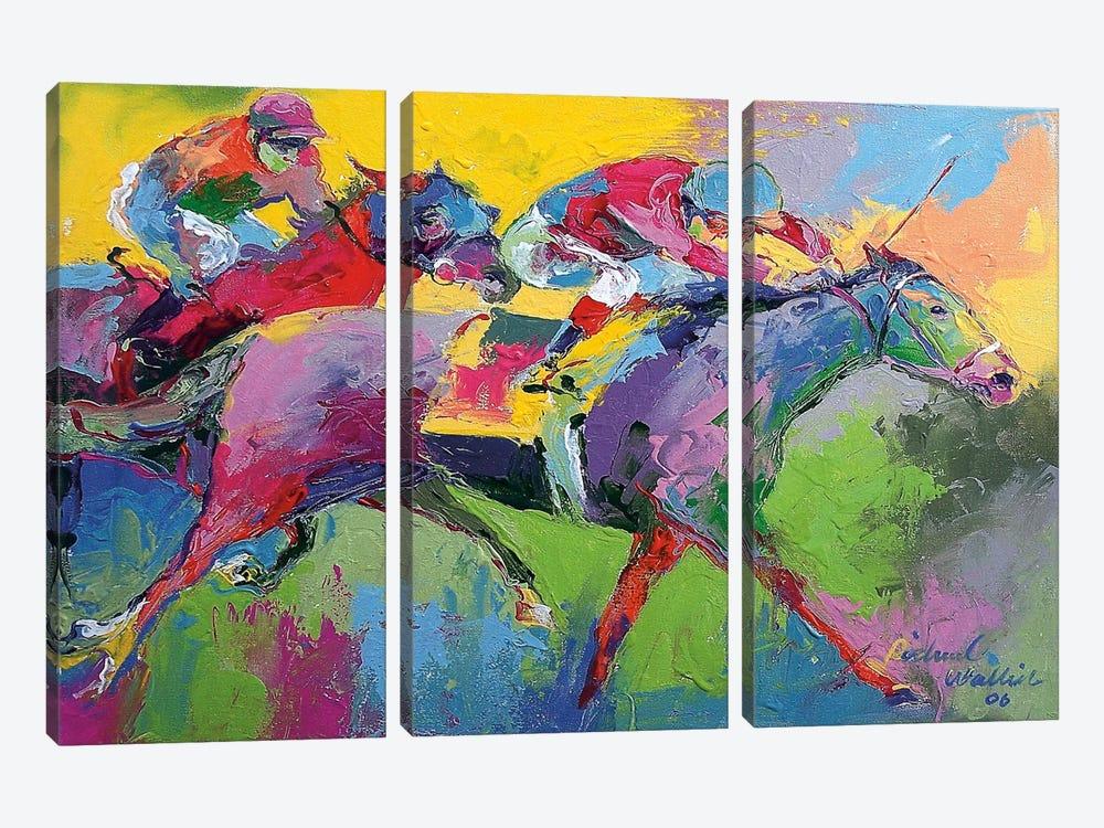 Furlong by Richard Wallich 3-piece Canvas Print