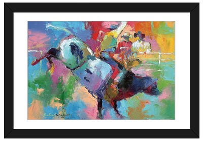 Bull Riding Framed Art Print