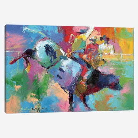 Bull Riding Canvas Print #9632} by Richard Wallich Canvas Art