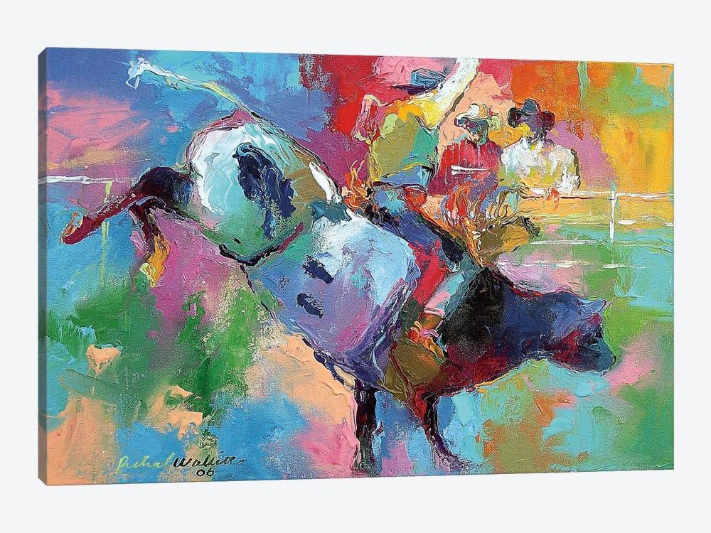 Bull Riding by Richard Wallich 1-piece Canvas Wall Art