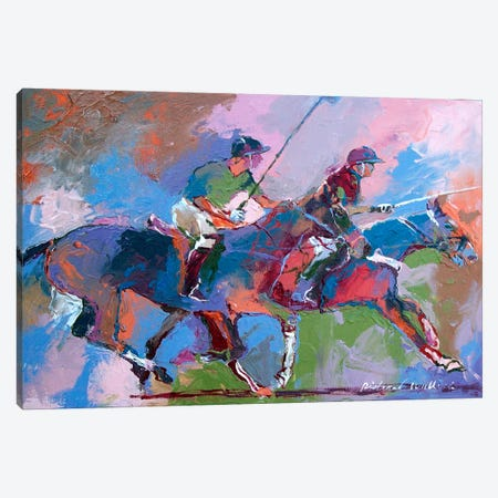 Polo I Canvas Print #9633} by Richard Wallich Canvas Artwork