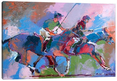 Polo I Canvas Art Print