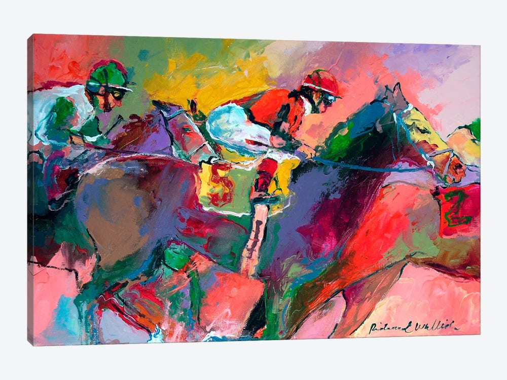 Race II by Richard Wallich 1-piece Canvas Art