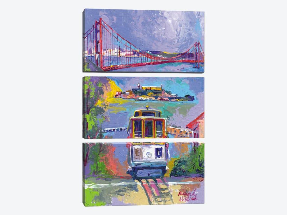 San Francisco by Richard Wallich 3-piece Canvas Art Print