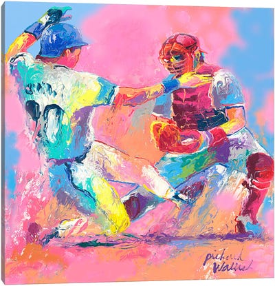 Baseball Canvas Art Print