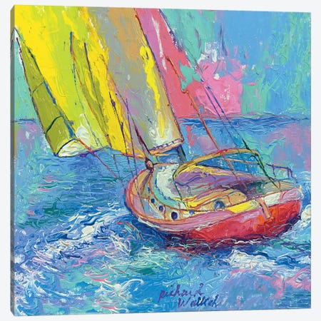 Sailboat Canvas Print #9637} by Richard Wallich Art Print