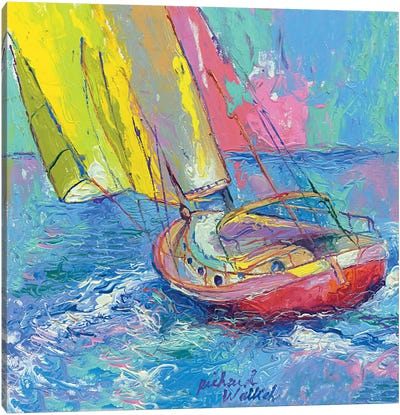 Sailboat by Richard Wallich Art Print