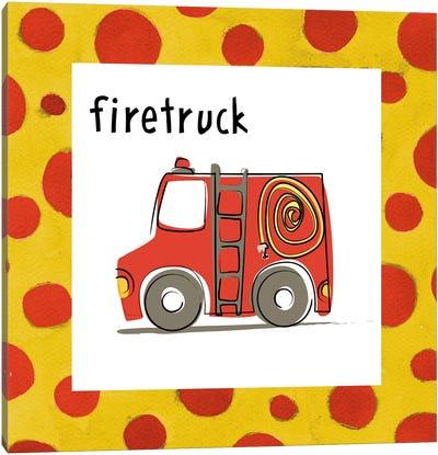 Firetruck Canvas Art Print