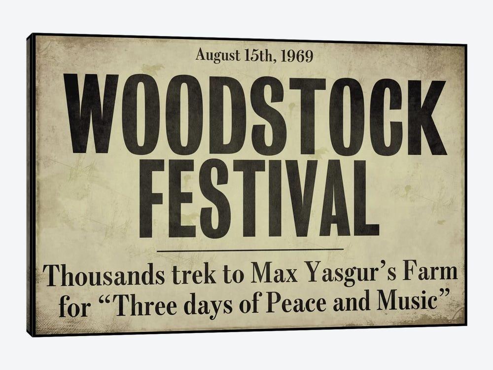Woodstock - Vintage Newspaper Headline by Color Bakery 1-piece Canvas Print