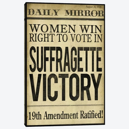 Women's right to Vote Canvas Print #9674} by Color Bakery Art Print
