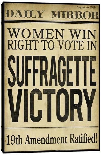 Women's right to Vote Canvas Art Print