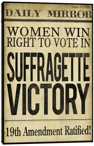 Women's right to Vote Canvas Art Print
