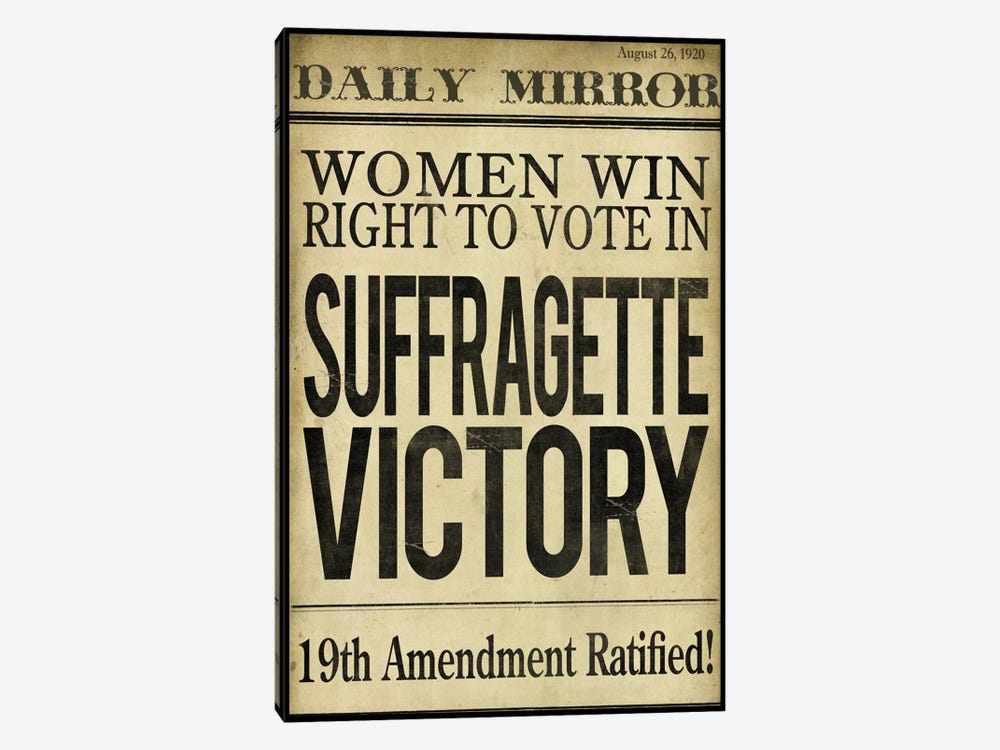 Women's right to Vote by Color Bakery 1-piece Canvas Art