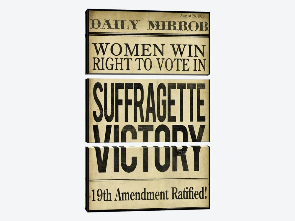 Women's right to Vote by Color Bakery 3-piece Canvas Art