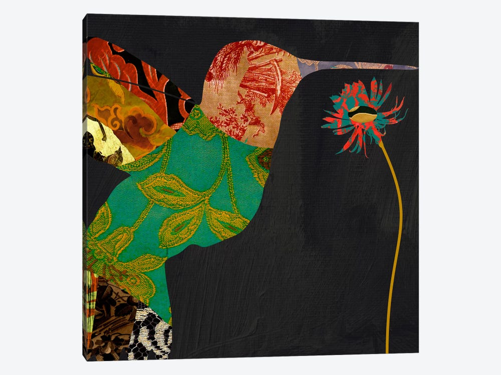 Humming bird brocade IV by Color Bakery 1-piece Canvas Artwork